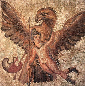 Zeus Abducting Ganymede; 3rd c. CE Floor mosaic, provenance uncertain